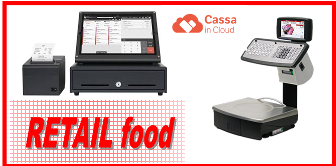 RETAIL FOOD CASSA IN CLOUD + BILANCIA ELETTRONICA